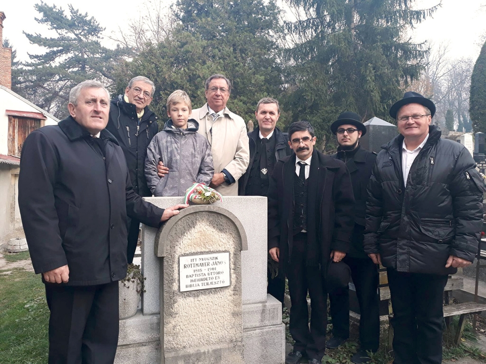 Történelmi megemlékezés Rottmayer János kolozsvári sírjánál