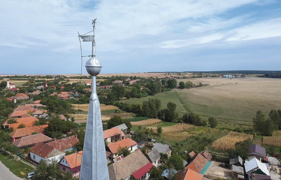 A magyarkéci református templom kakasa. Fotó: Mike Pál lelkész