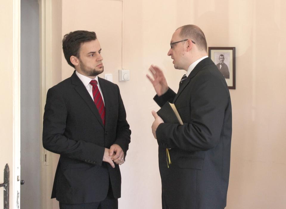 Mezei Ödön baptista, és Mikló István Boldizsár református lelkész